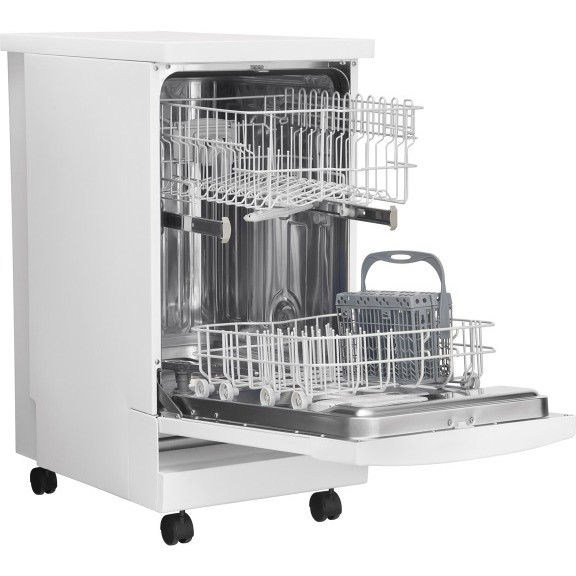 Frigidaire Ffpd1821mw 18 Portable Dishwasher With 6 Cycles China Crystal Cycle No Heat Dry