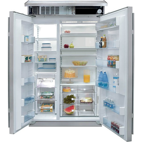 """Sub-Zero BI-48S/S/TH 48"""" Built-In Side by Side Refrigerator - Classic ..."""