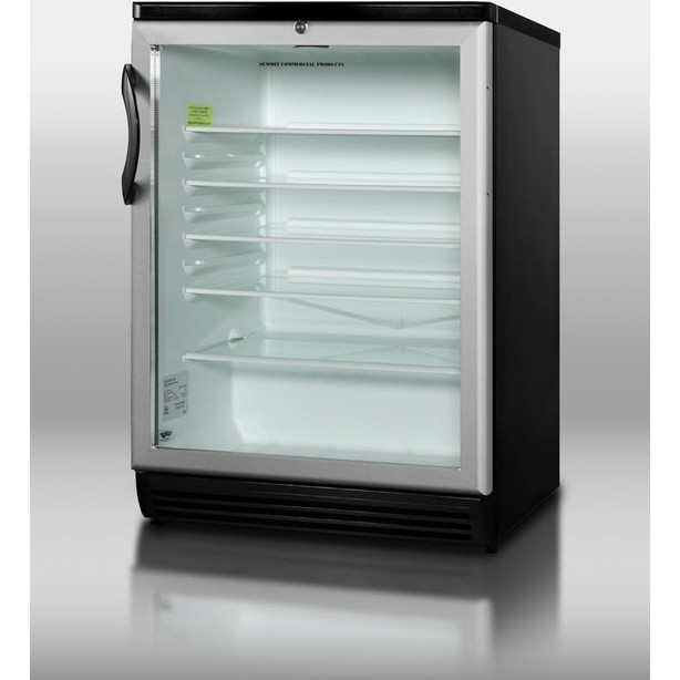 Summit Scr600bl 24 Quot Freestanding Beverage Center With 5 5