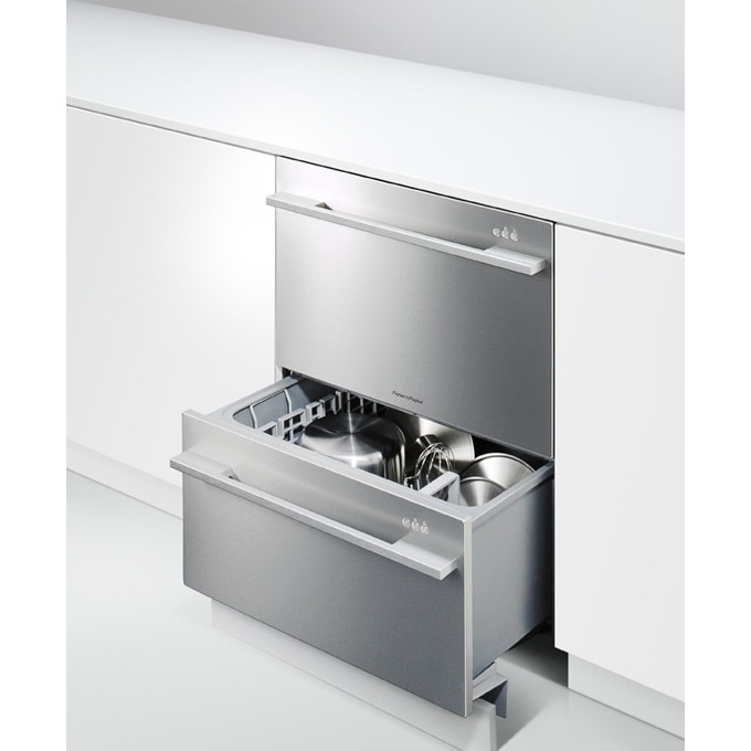 Dd24ddfx7 fisher paykel double dishwasher drawer w flat for Kitchen 0 finance deals