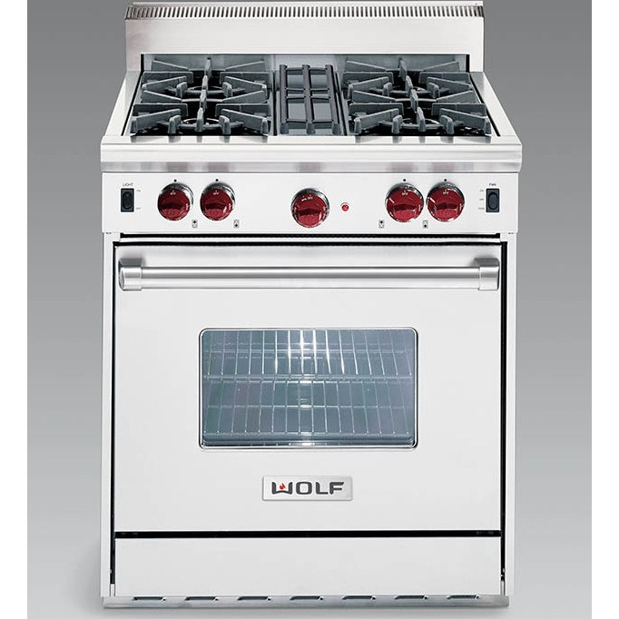 Wolf Df304 Lp 30 Quot Dual Fuel Range With 4 Sealed Burners