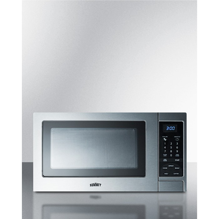 Countertop Microwave Ovens With Stainless Steel Interior : Home Kitchen Appliances Cooking Microwaves Summit SCM853