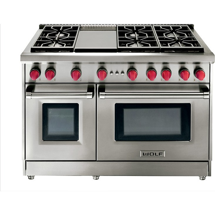 "Thermador Kitchen Package Wolf GR486G-LP - 48"" Gas Range - 6 Burners w/Griddle ..."