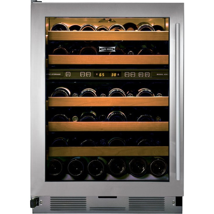 subzero 424g s th 24 stainless steel glass door wine. Black Bedroom Furniture Sets. Home Design Ideas