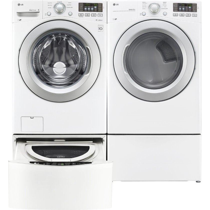 Lg Wm3170cw Front Load Washer Amp Dlg3171w Gas Dryer With Lg