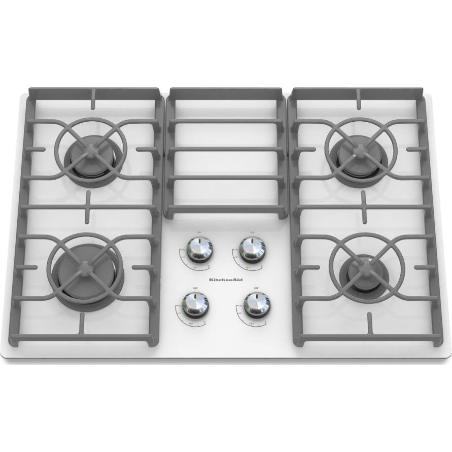 30 Inch Glass Cooktop ~ Kitchenaid kgcc rww quot sealed burner gas cooktop with