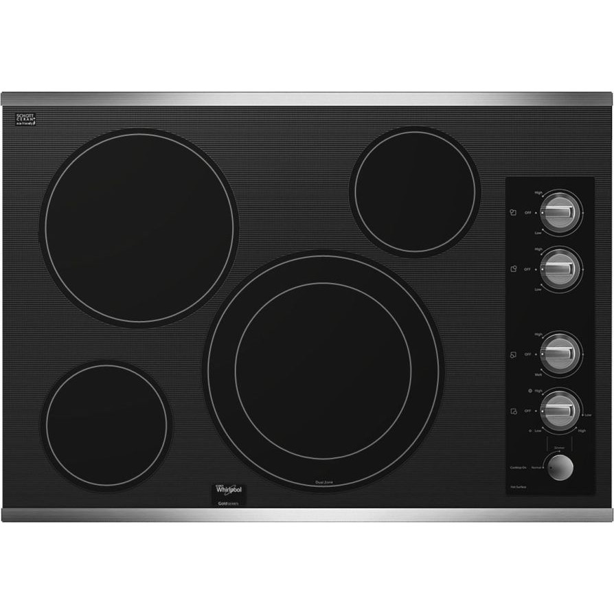 Whirlpool G7ce3034xs 30 Quot Smoothtop Electric Cooktop With 4