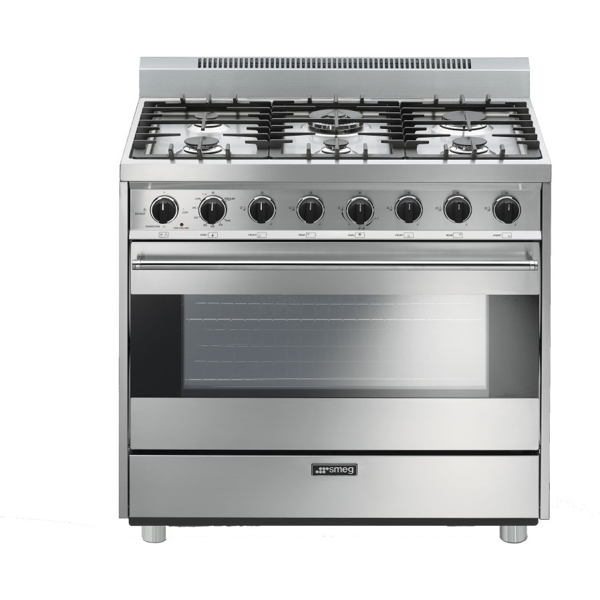 c36ggxu smeg 36 gas range 4 4 cu ft oven 6 sealed burners. Black Bedroom Furniture Sets. Home Design Ideas