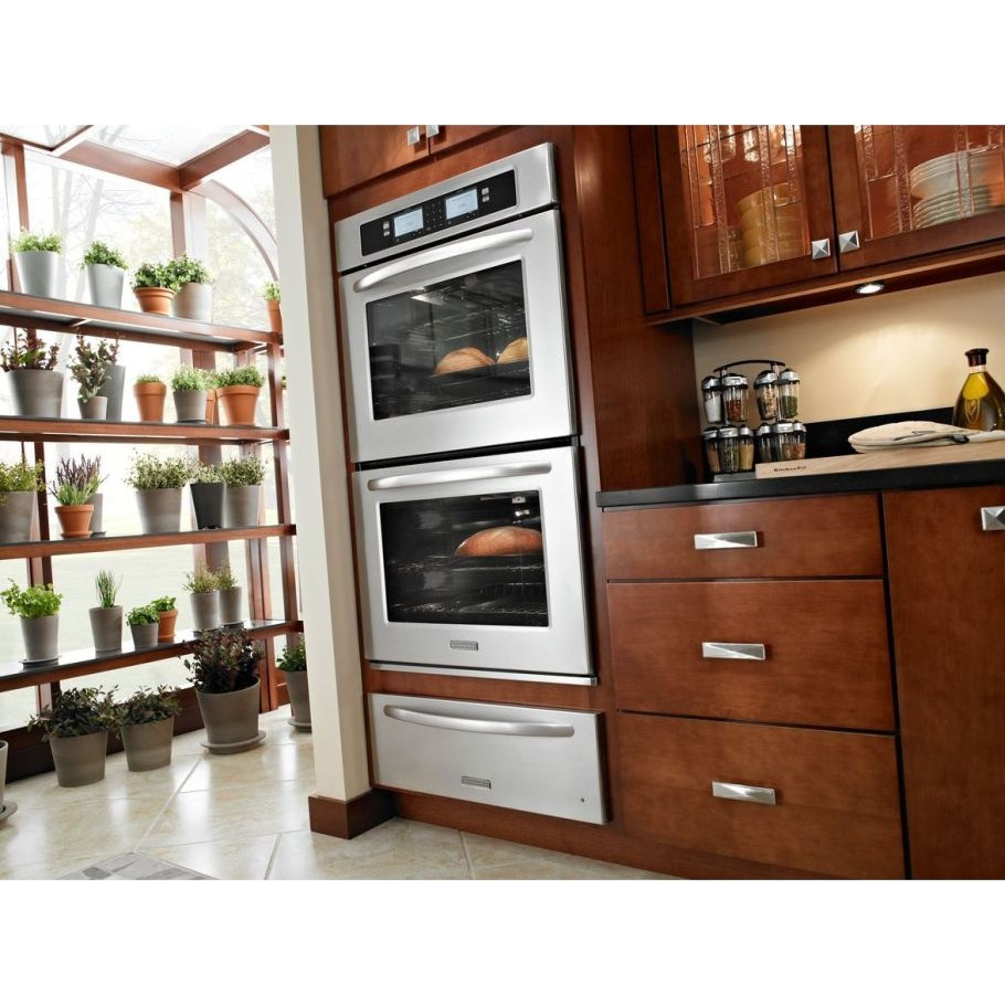 Kitchenaid kebu208sss 30 double steam assist electric for Electric moving wall pictures