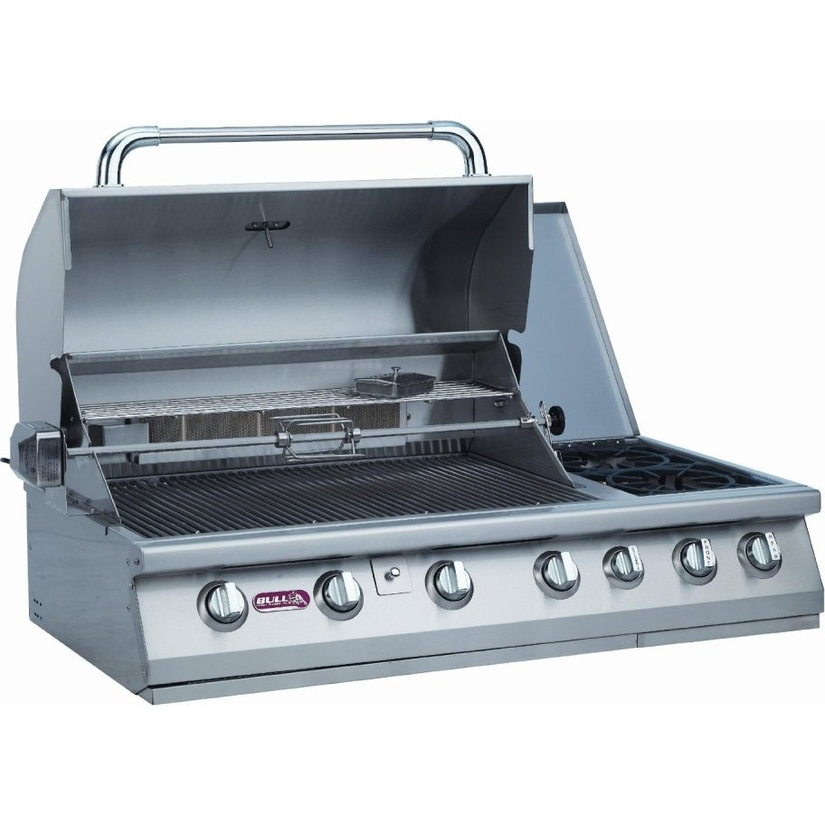 bull 7 burner premium 47 stainless steel built in gas On built in barbecue grills