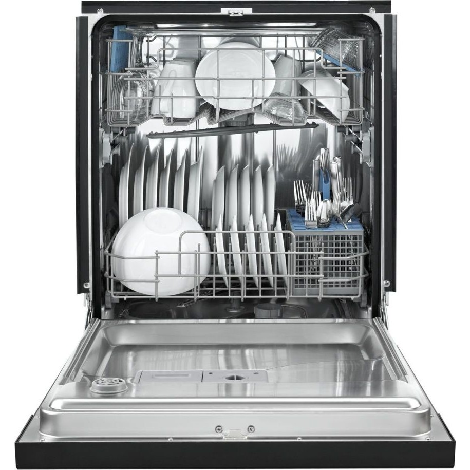 Whirlpool wdf550saaw full console dishwasher with 12 place settings 5 cycles 4 options for White dishwasher with stainless steel interior