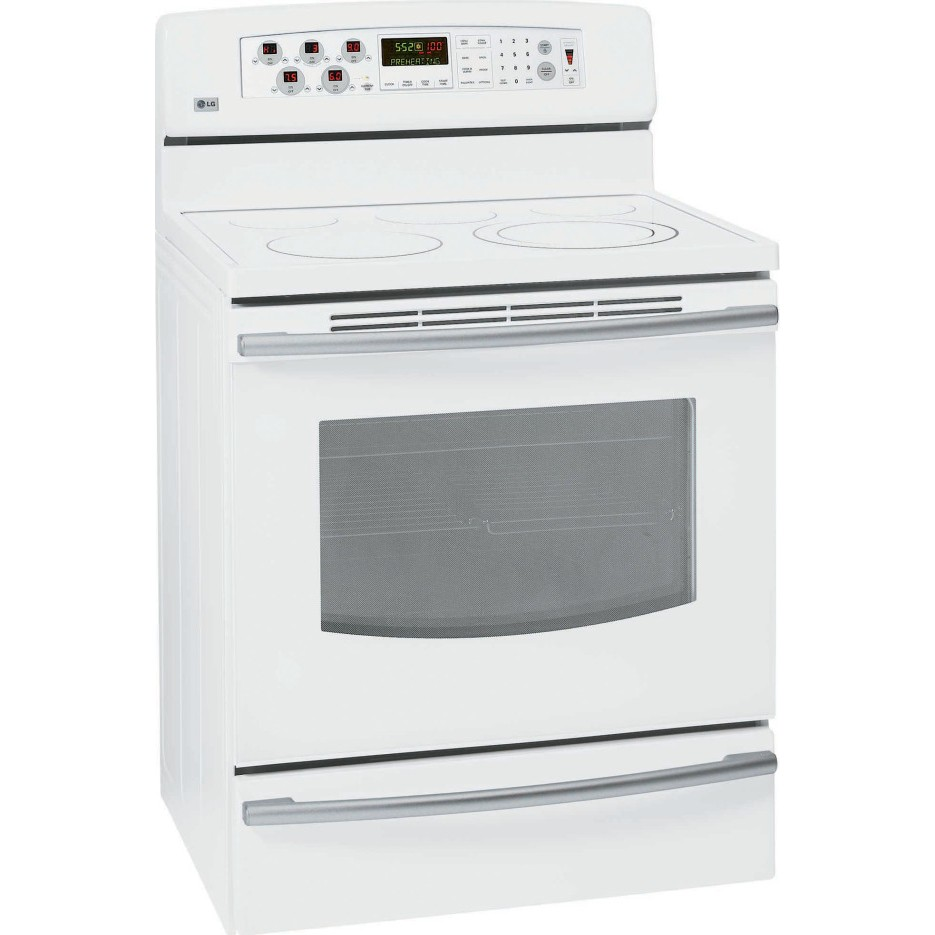 """30 White Living Rooms That Exude Purity And Peace: LG : LRE30755SW 30"""" Freestanding Electric Range White"""