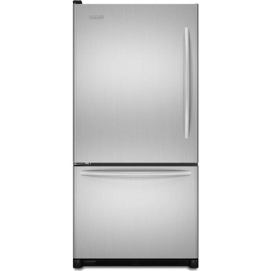 Kitchenaid kbls22kwms 21 9 cu ft bottom freezer for Kitchenaid 0 finance