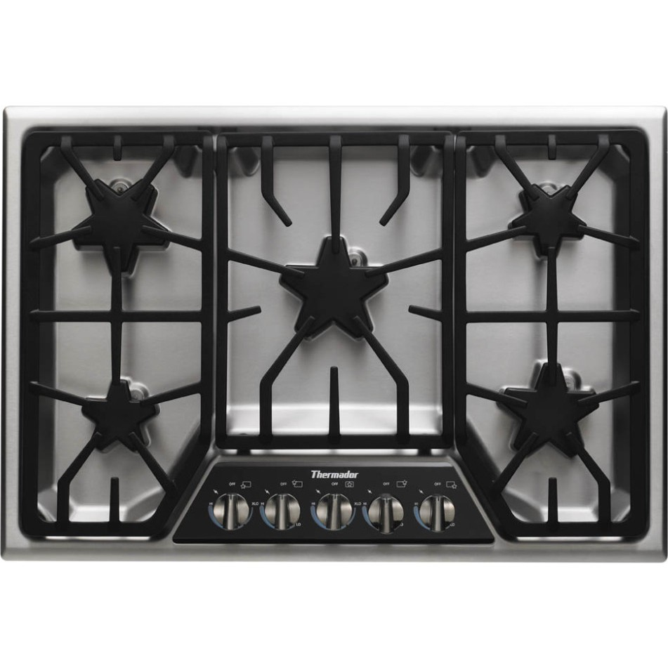 "5 Burner Gas Cooktops: Thermador 30"" Masterpiece Gas Cooktop, 5 Star"