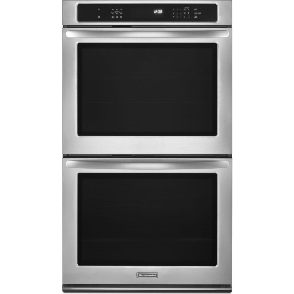 Kitchenaid kebs279bss 27 double electric wall oven with 3 for Kitchenaid 0 finance