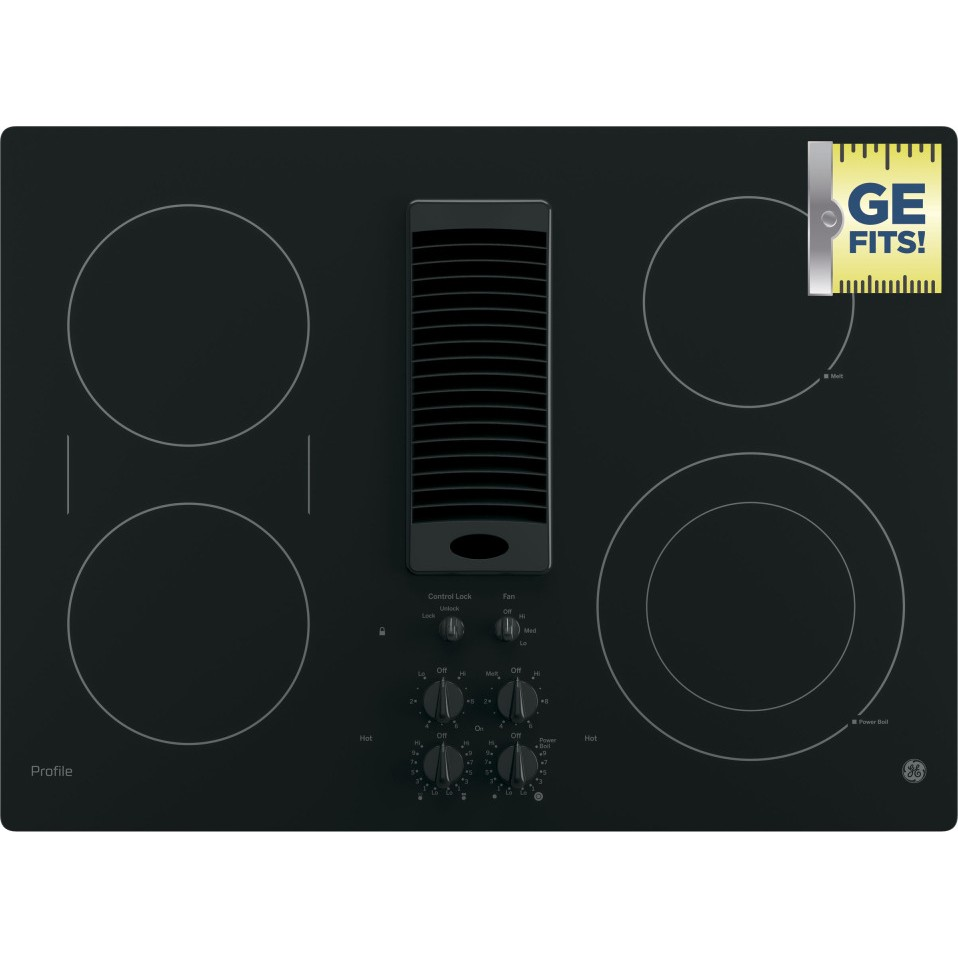 "Thermador Kitchen Package PP9830DJBB | GE Profile Series 30"" Downdraft Electric Cooktop"