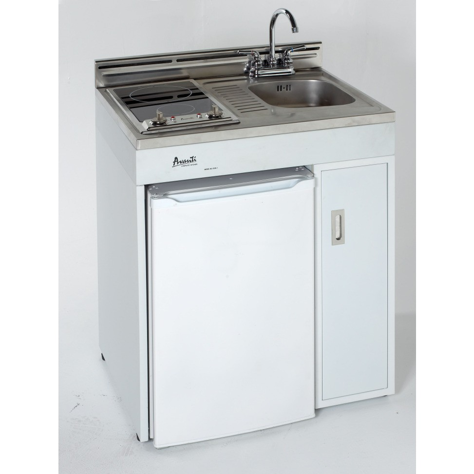 "Avanti Mini Kitchen: Avanti CK302R 30"" Complete Compact Kitchen With 3.8 Cu. Ft"