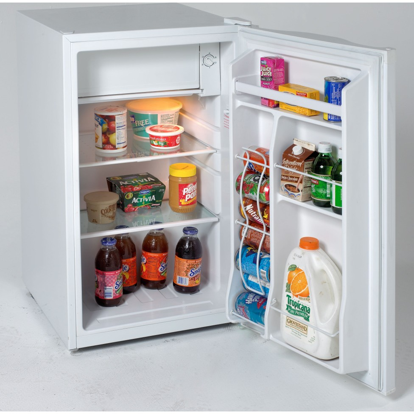 Avanti Rm4120w 4 1 Cu Ft Compact Refrigerator With Slide