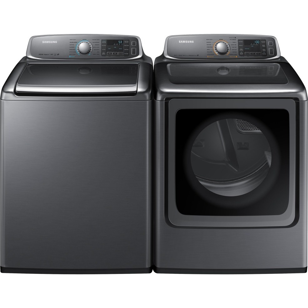 samsung washer and dryer samsung wa56h9000ap washer amp dv56h9000ep electric dryer set 31165