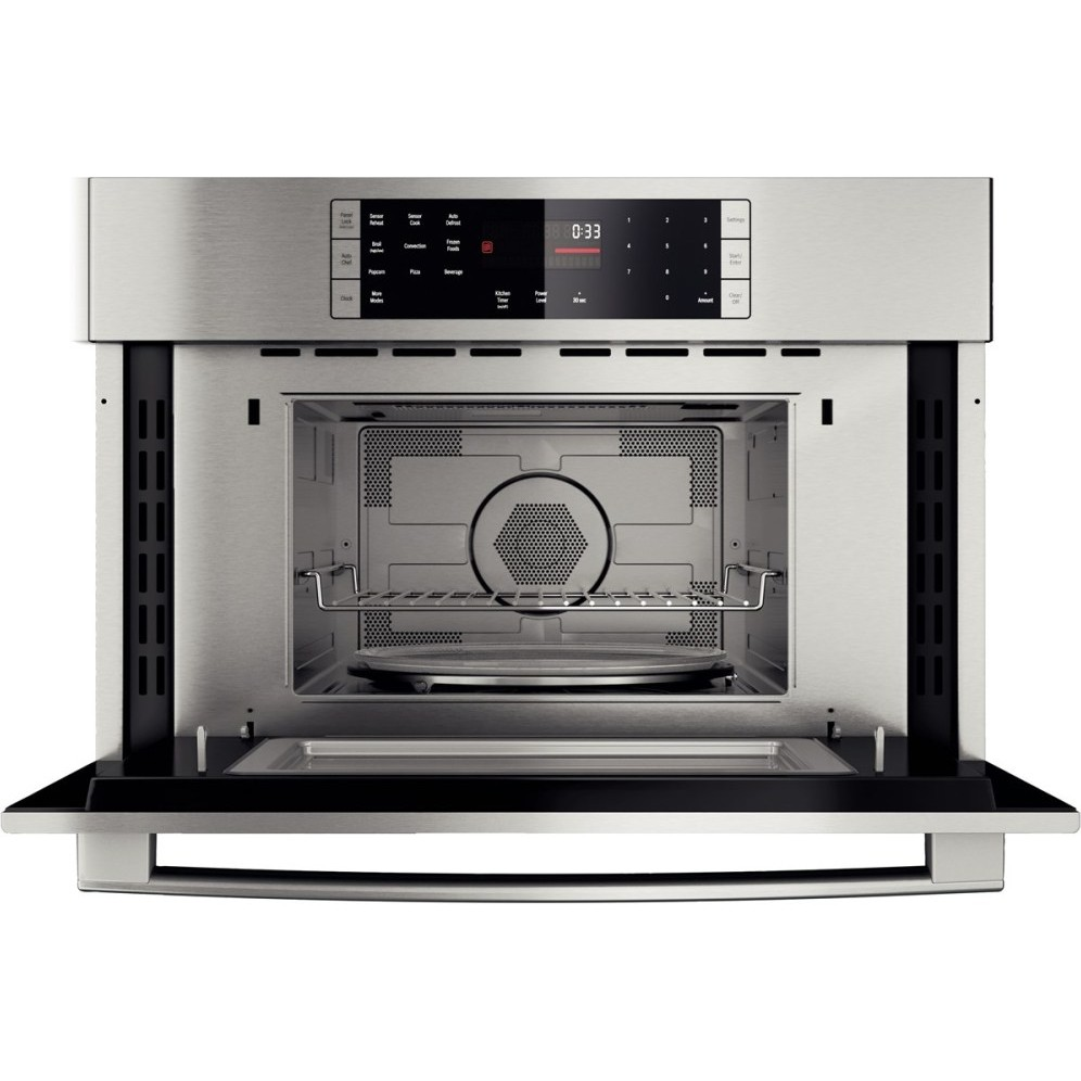 "Sub Zero Appliances >> Bosch HMC87151UC 800 Series 27"" Speed/Microwave Convection Oven"