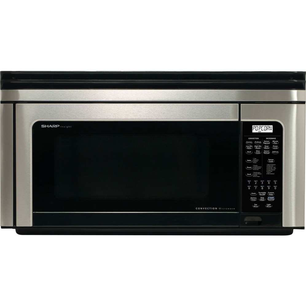 sharp r1880lsrt 1 1 cu ft convection over the range microwave oven 850 watts. Black Bedroom Furniture Sets. Home Design Ideas