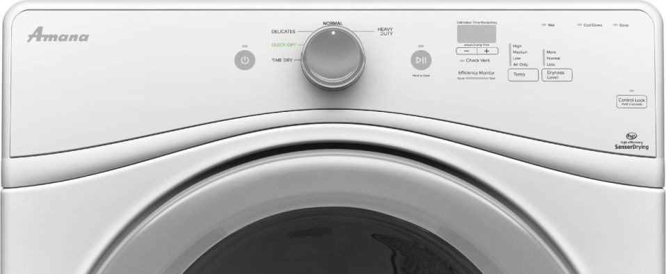 Ned5800dw Amana 7 4 Cu Ft Electric Dryer White