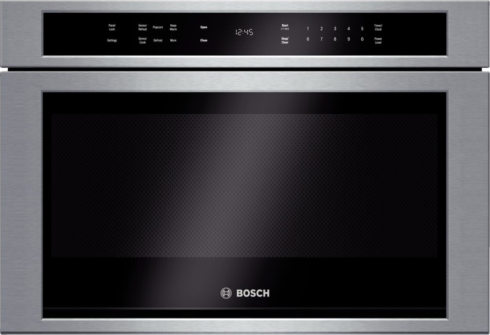 Bosch Hmd8451uc 800 Series 24 Built In Microwave Drawer Flush To Cabinet