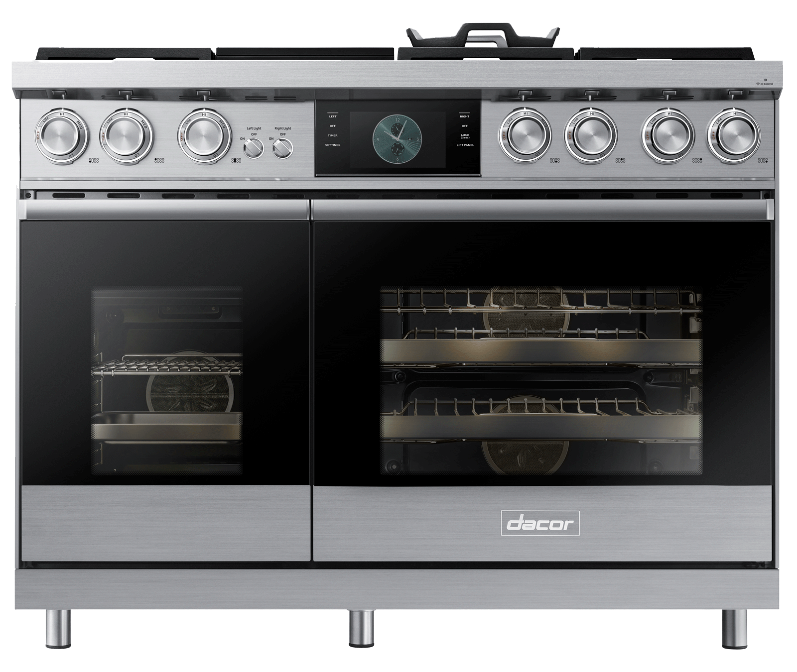 Dacor dop48m96das modernist silver stainless 48 dual fuel for Dacor 48 dual fuel range