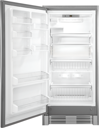 fgfu19f6qf frigidaire gallery 32 18 6 all freezer stainless steel. Black Bedroom Furniture Sets. Home Design Ideas