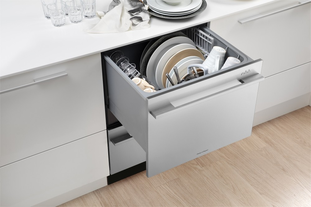 Integrated dishwasher drawers