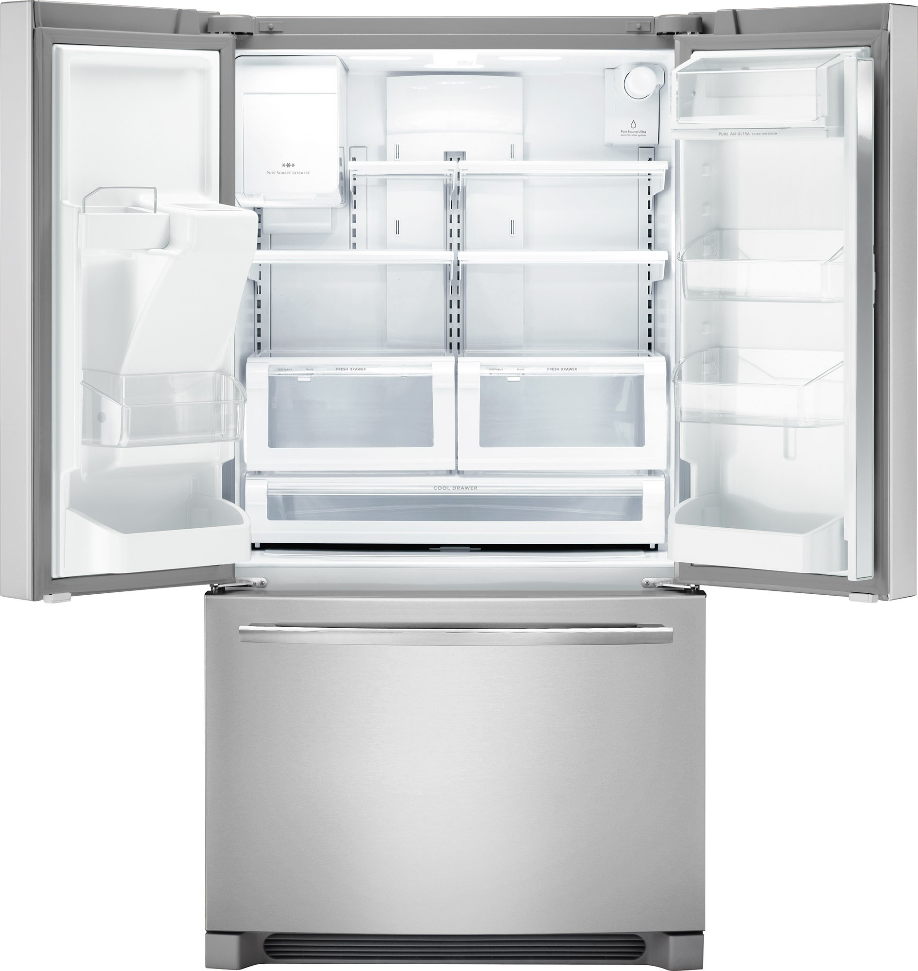 refrigerator frigidaire french door ft cu depth counter