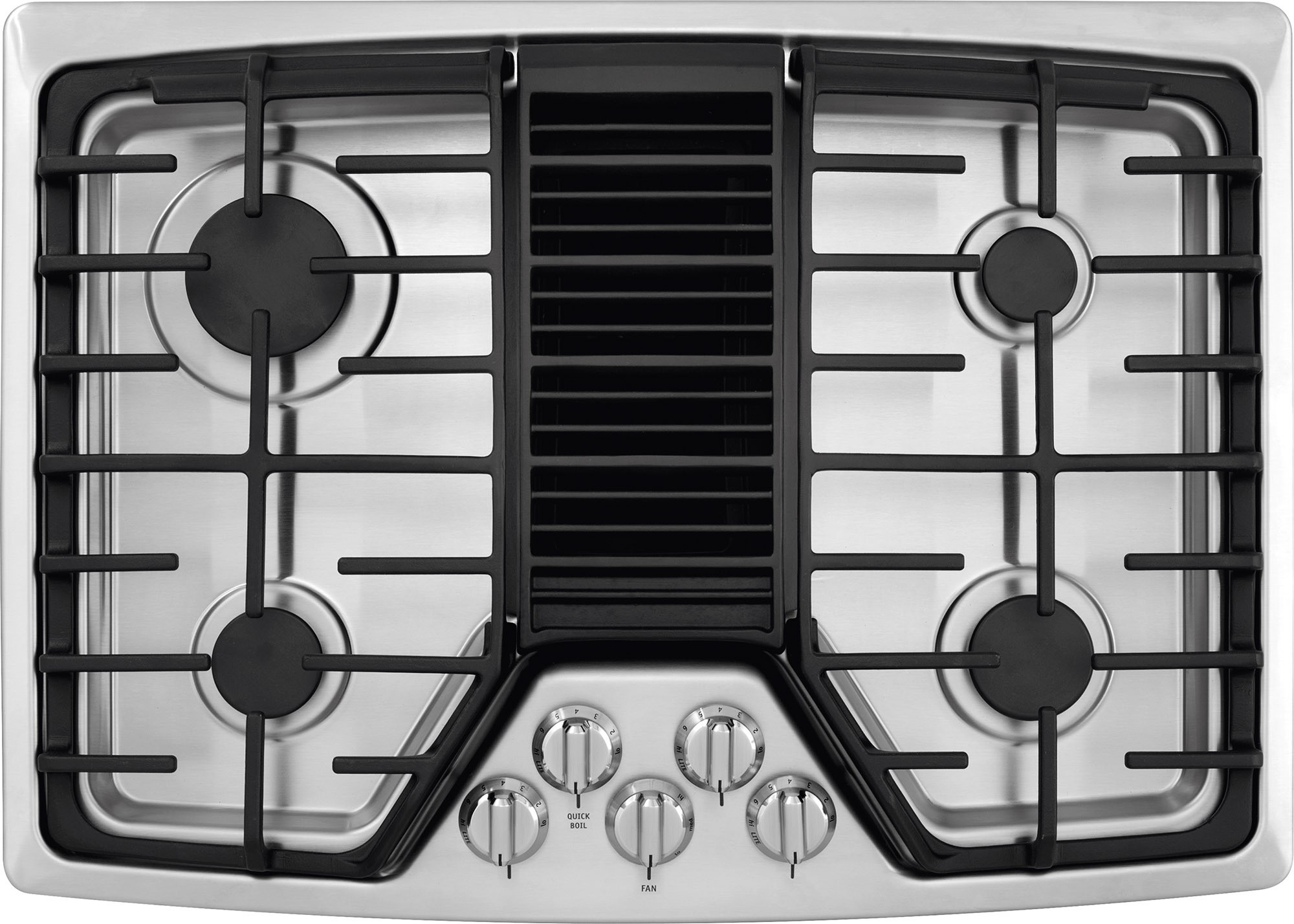 Rc30dg60ps frigidaire 30 gas cooktop with downdraft for Stove top with built in vent