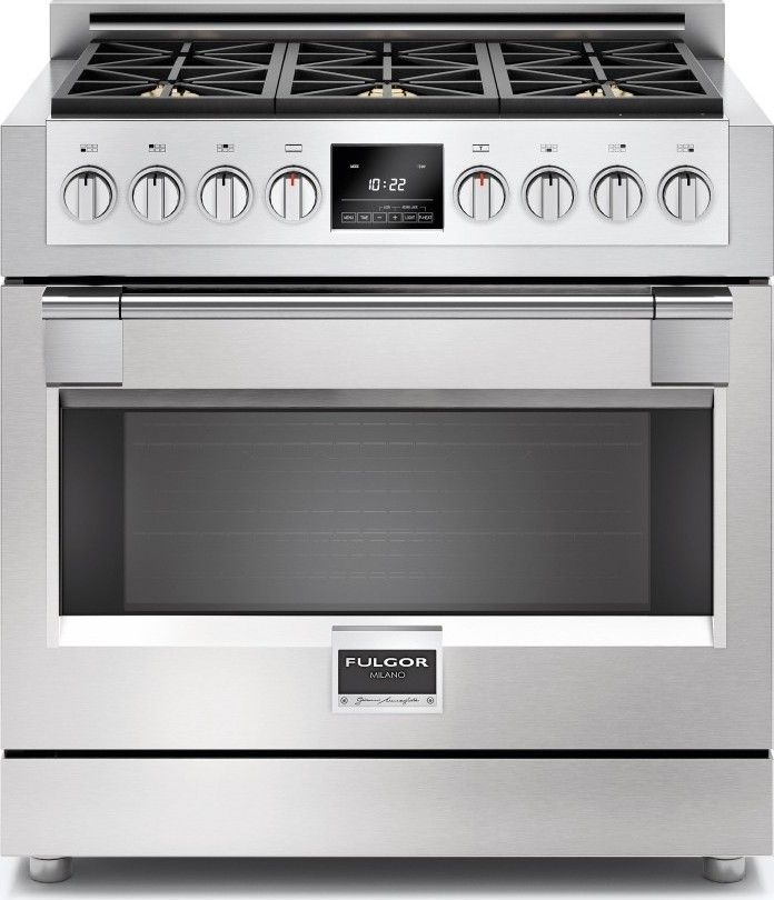 Fulgor Milano F6RT36S2 Fulgor Milano F6RT36 36 Inch Wide Built-In Electric Cooktop with Automatic Fast