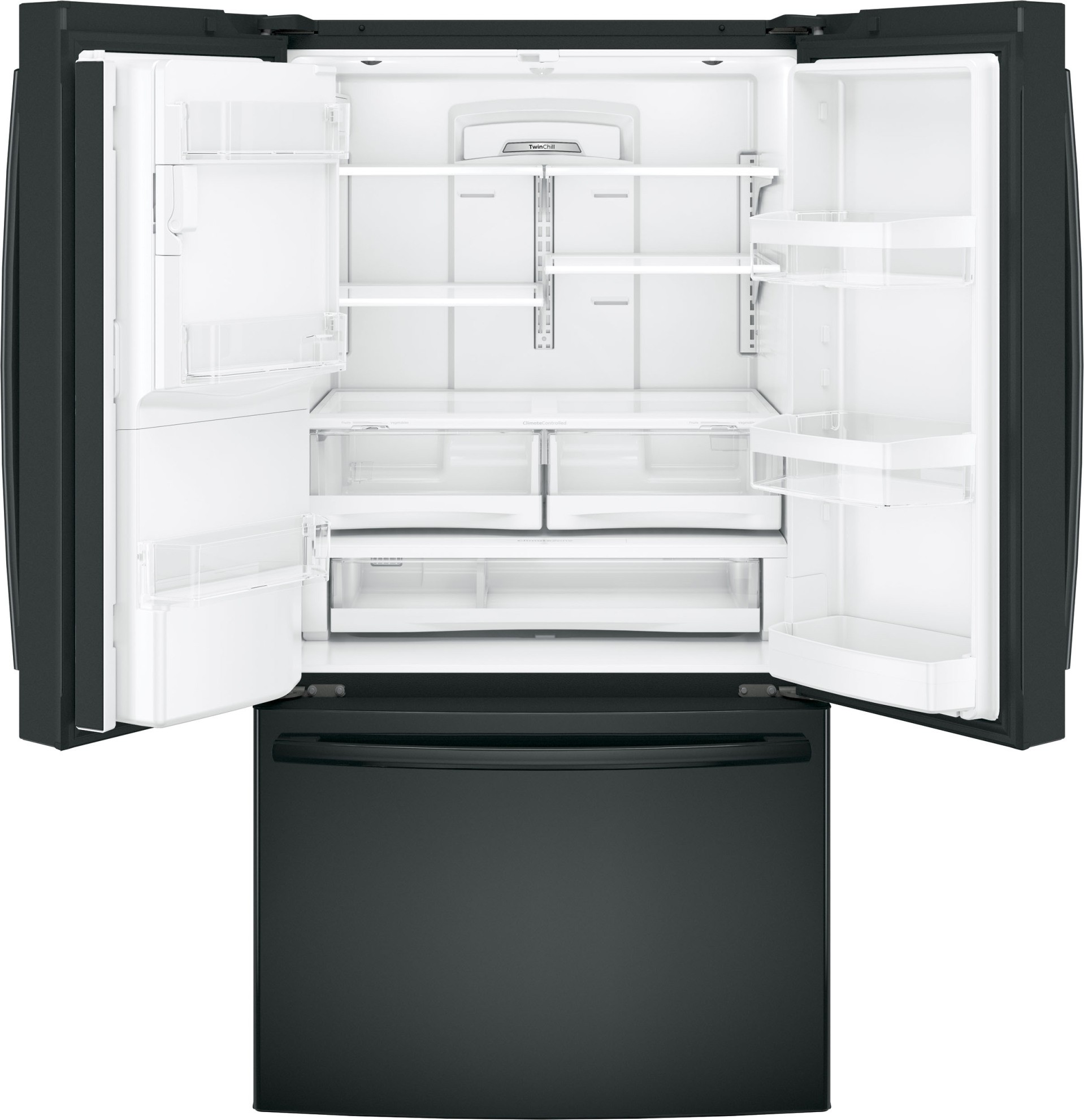Gfe28ggkbb Ge 36 Quot 27 8 Cu Ft French Door Refrigerator