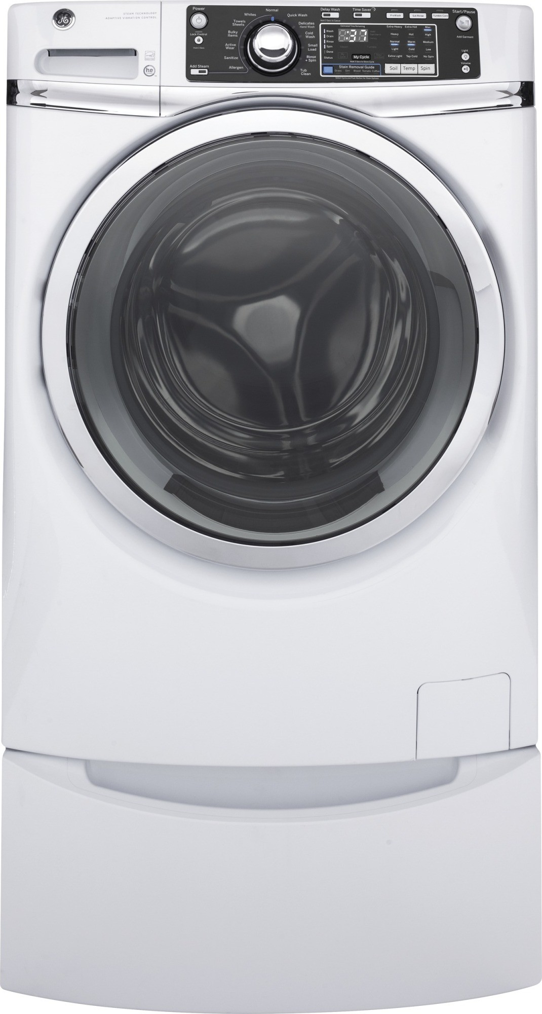 Gfw480sskww Ge 28 Quot 4 9 Cu Ft Front Load Steam Washer
