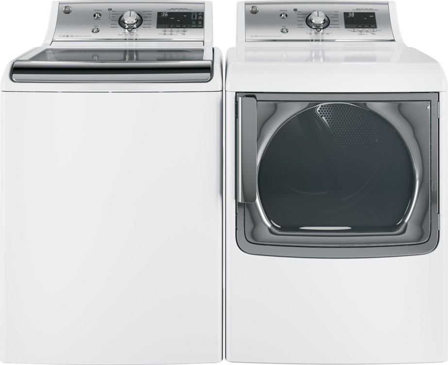 Gtw860ssjws Ge 5 1 Cu Ft Front Load Washer White