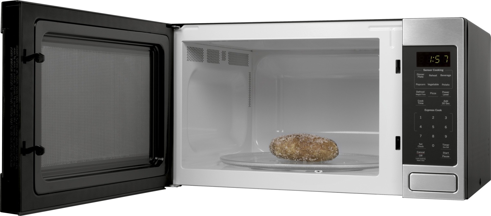 Jes1657smss Ge 1 6 Cu Ft Countertop Microwave