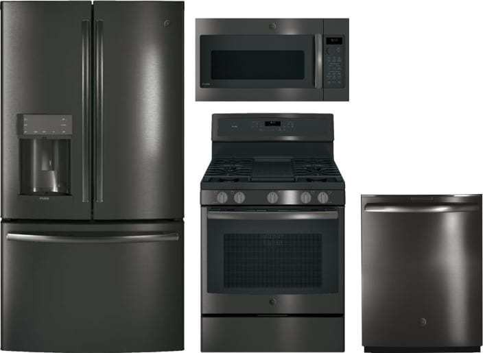 Ge Profile 4 Piece Appliance Package With Pfe28kblts