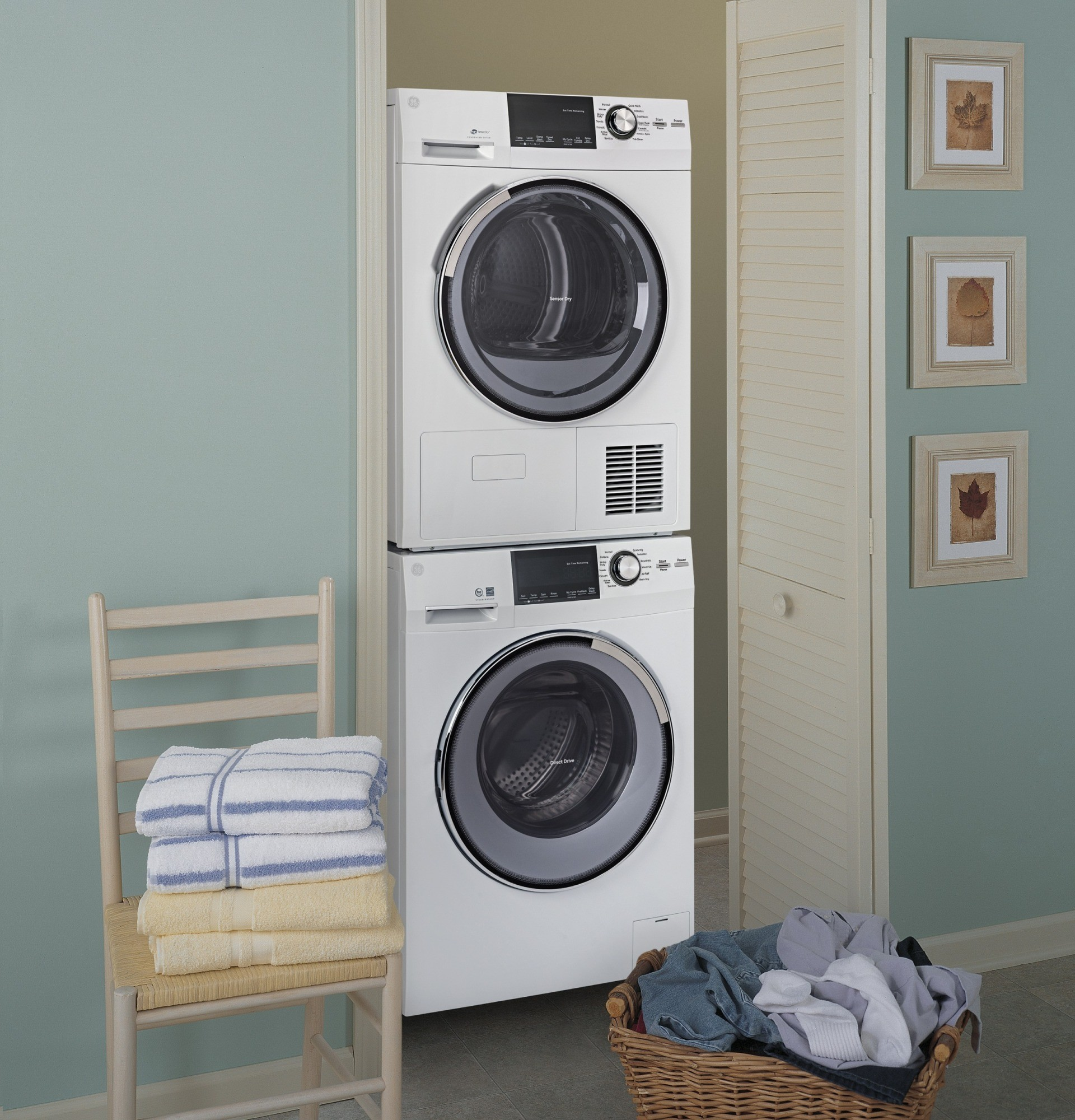 Gfw148sslww Ge 24 Quot 2 4 Cu Ft Stackable Compact Washer