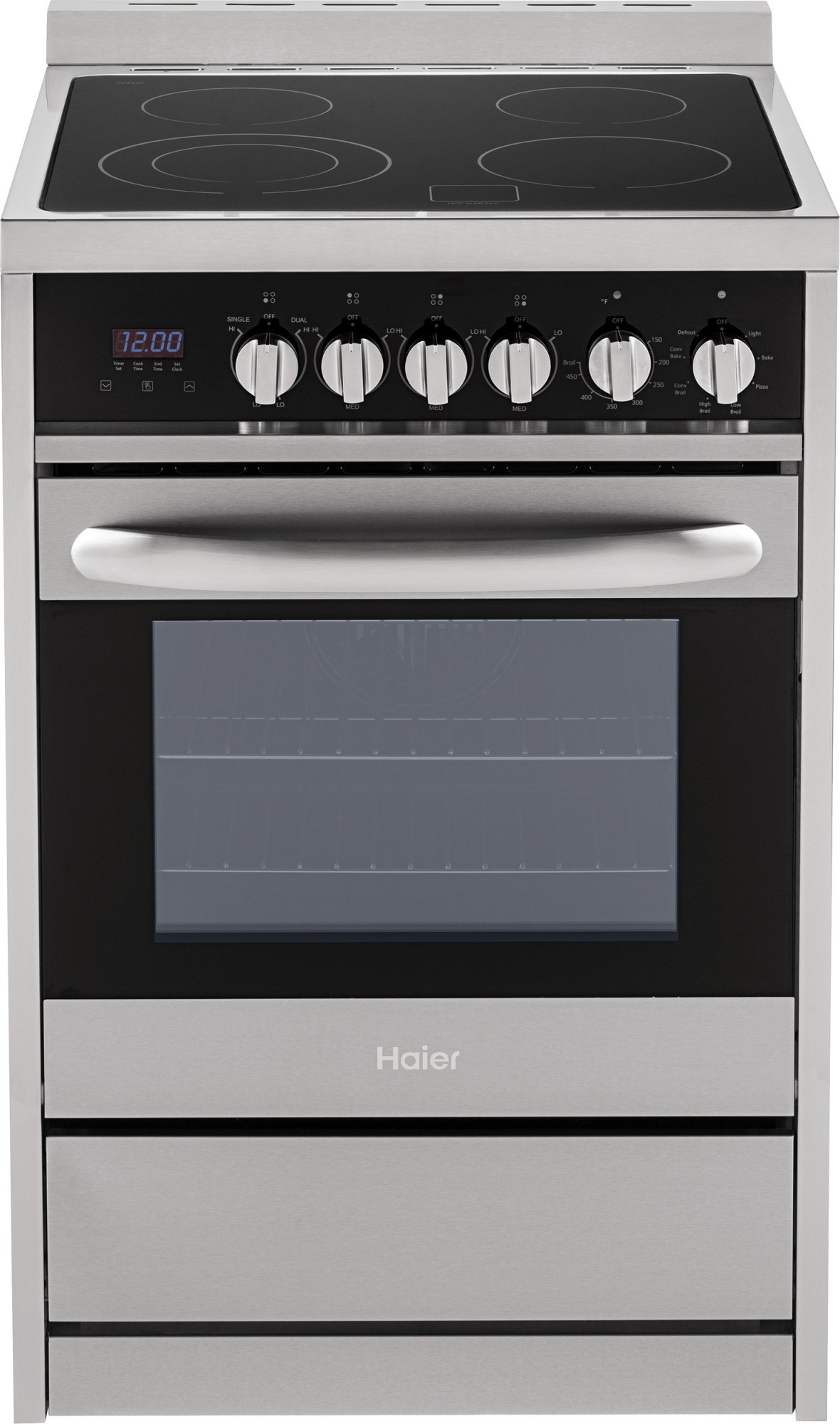 Hcr2250aes Haier 24 Quot Electric Range Convection Smoothtop
