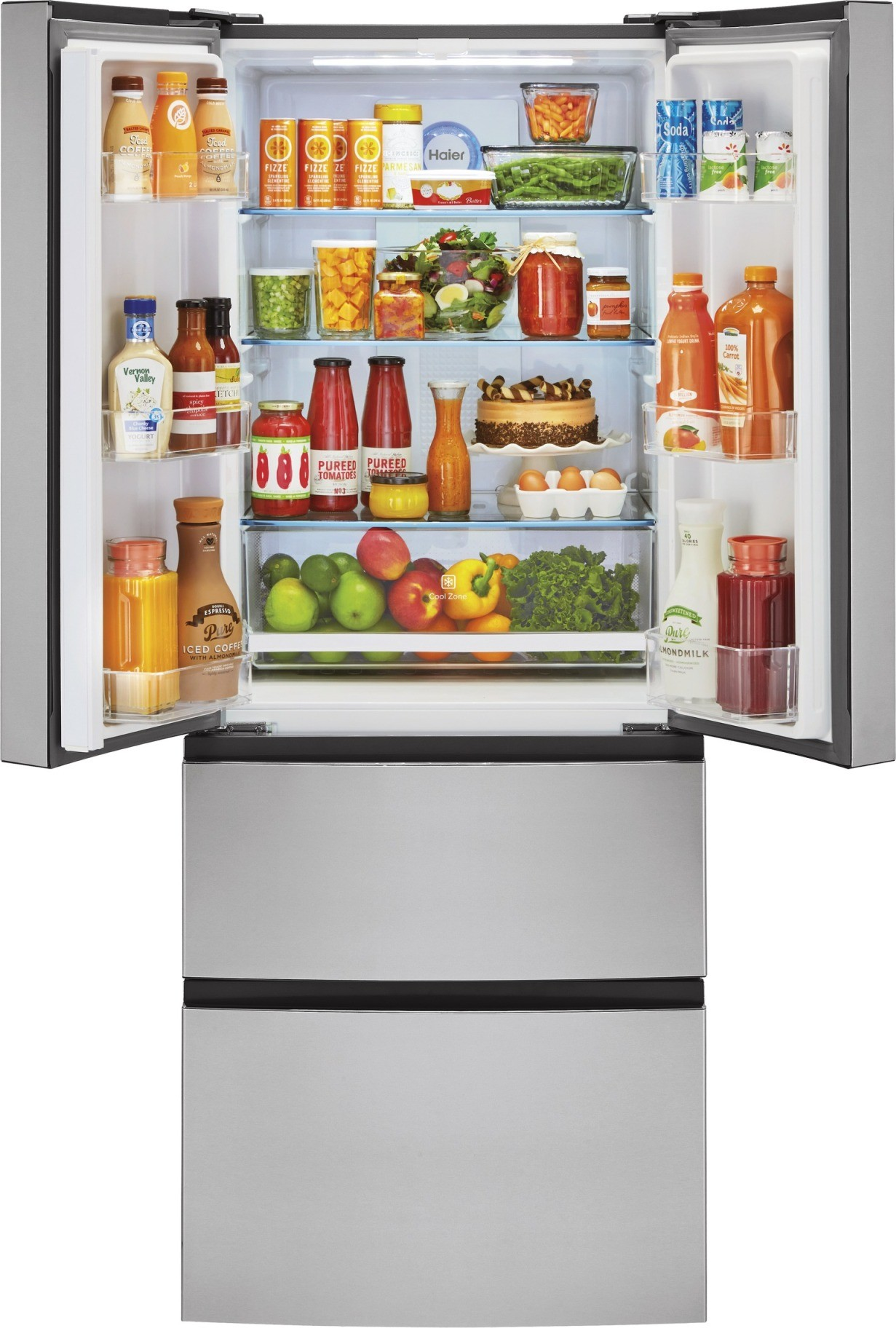Hrf15n3ags Haier 28 Quot 15 Cu Ft French Door Refrigerator