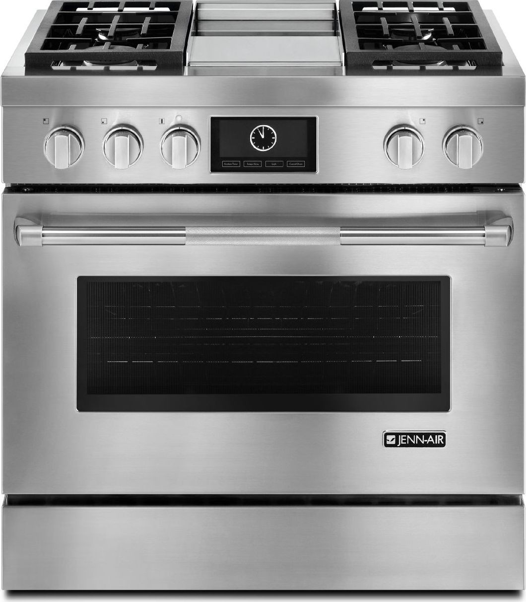 Stove With Griddle In The Middle ~ Jdrp wp jenn air quot touch screen dual fuel range w