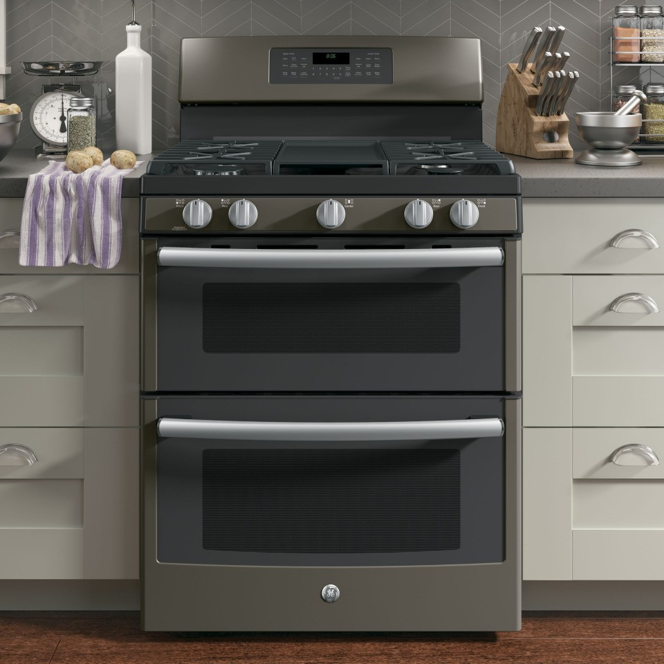 """GE 30"""" Free-Standing Gas Double Oven"""