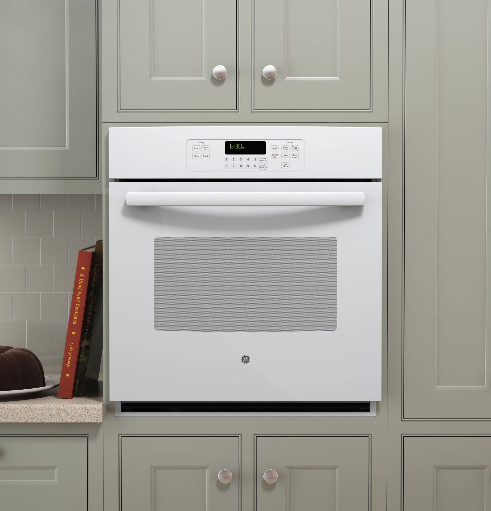 "J K Kitchen Cabinets: GE 27"" Built-In Single Wall Oven - White"