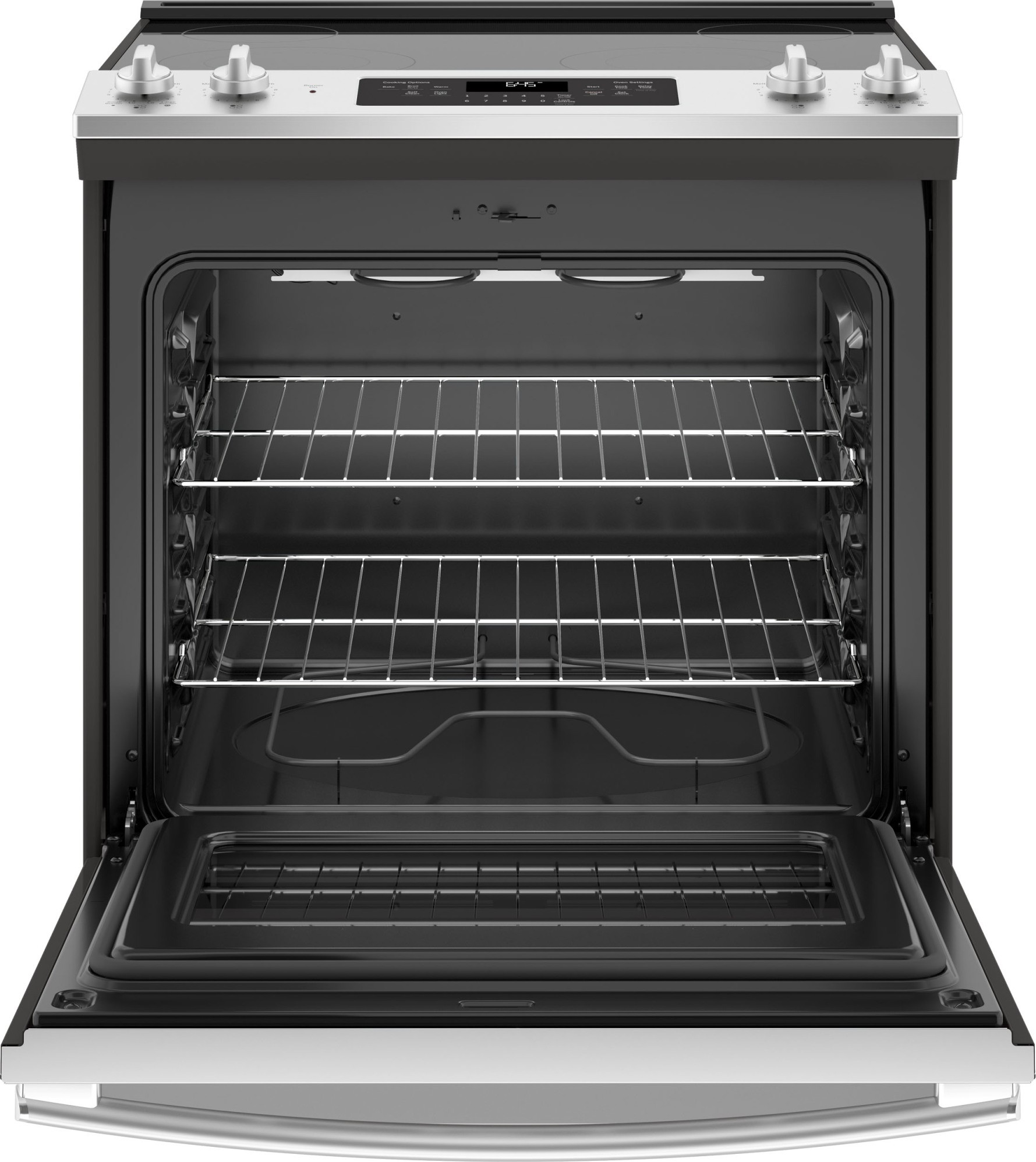 Js645slss Ge 30 Quot Slide In Electric Range With Power Boil