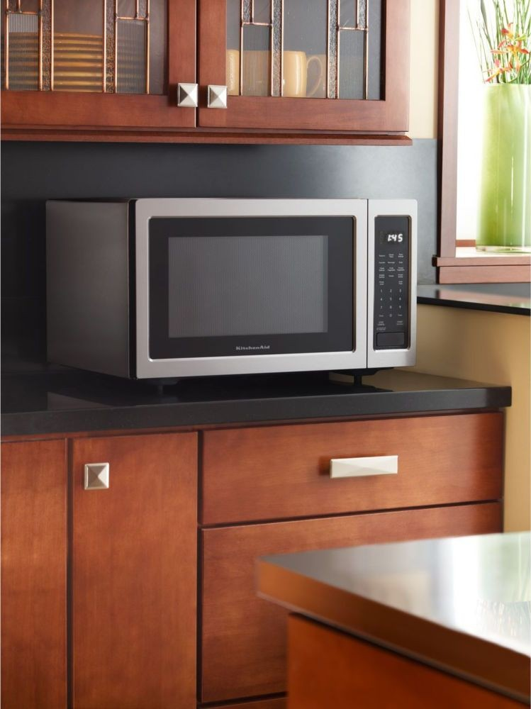 kitchenaid kcms1655bss 1.6 cu. ft. countertop microwave oven with