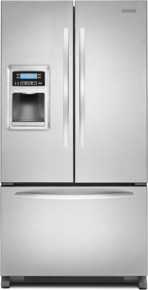 Kitchenaid kfis20xvms 19 9 cu ft counter depth french door refrigerator with 4 adjustable - Kitchenaid architect counter depth refrigerator ...