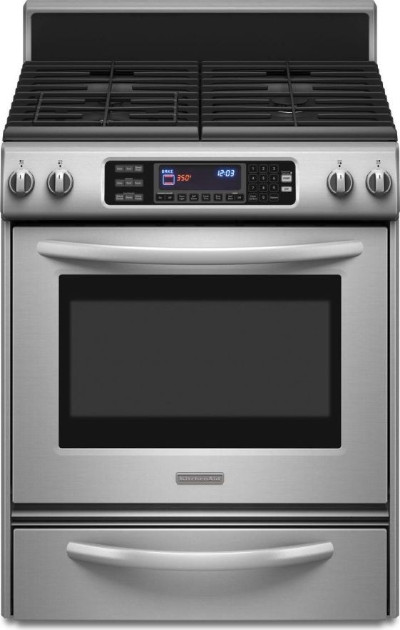Kitchenaid Kgrs807sss 30 Quot Freestanding Gas Range With 4