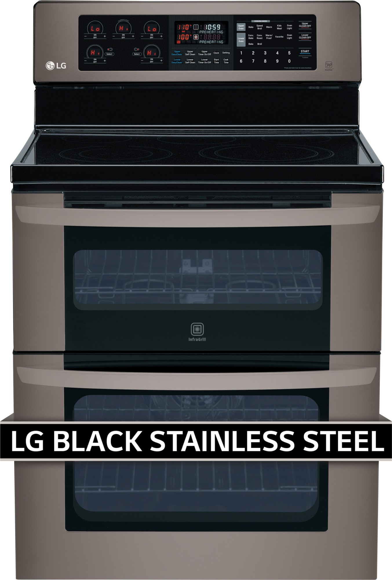 Lde3037bd lg 30 freestanding electric double oven range for Kitchen 0 finance deals