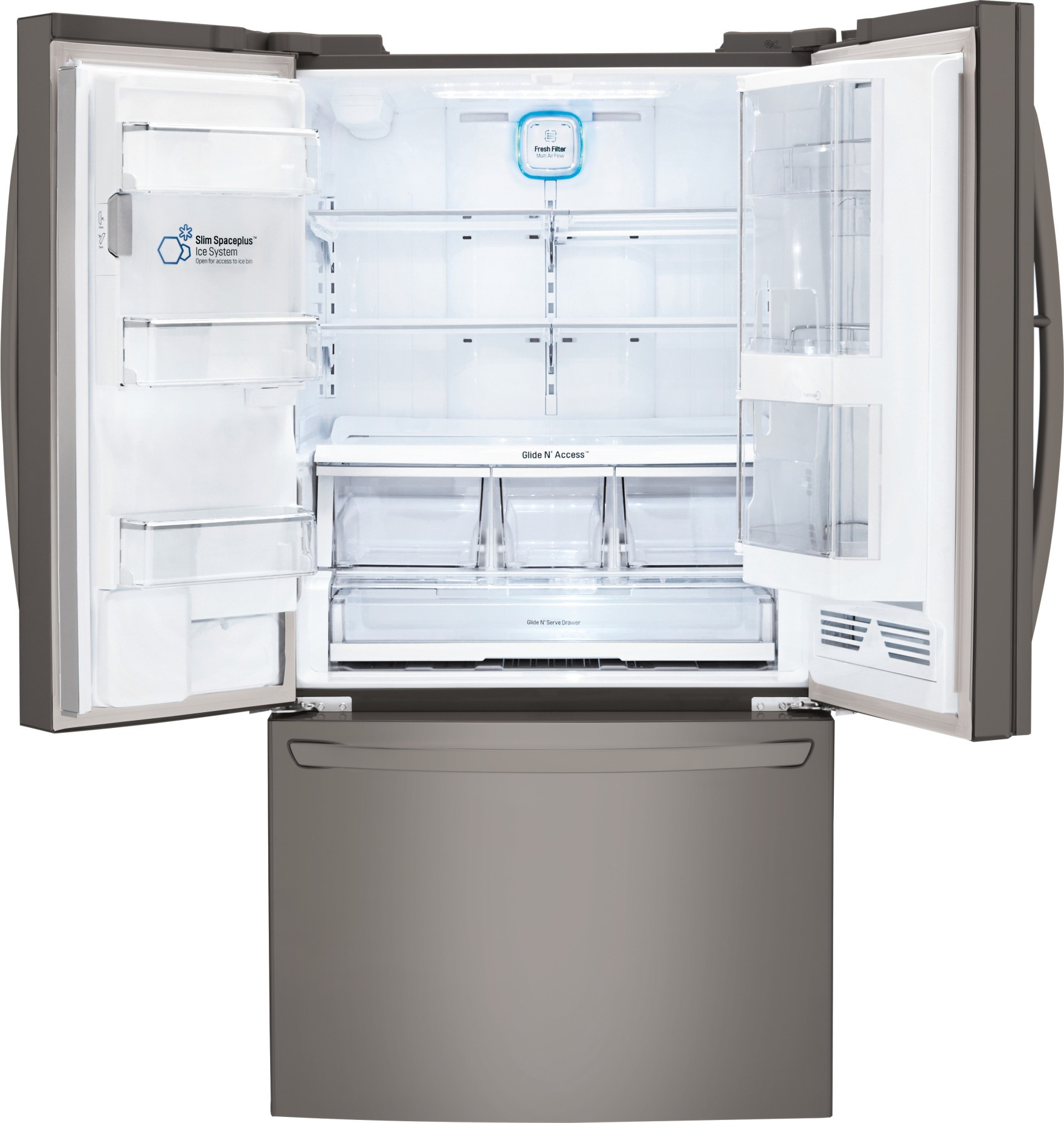 Lfxs30766d lg 30 cu ft super capacity french door refrigerator main feature feature feature feature rubansaba